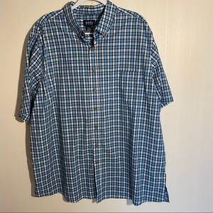 Harbor Bay Men's Plaid Button down Shirt